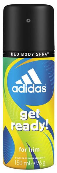 Adidas Дезодорант-спрей Get Ready!, мужской, 150 мл34000936820Дезодорант-спрей Adidas Get Ready! для него - это прекрасное сочетание надежной защиты и яркого древесно-цитрусового аромата для мужчин. Пирамида аромата : Верхние ноты: бразильский мандарин, ананас, морской аккорд. Ноты сердца: райская маракуя, лаванда, мускатный шалфей. Базовые ноты: древесные ноты, кедровые ноты, пачули. Характеристики: Объем: 150 мл. Товар сертифицирован.