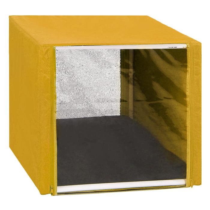 Клетка для кошек Заря-Плюс, выставочная, разборная, цвет: желтый, 56 см х 56 см х 56 см. КВР0КВР0жВыставочная клетка-палатка Заря-Плюс - отличный выбор для участия на любой российской или международной кошачьей выставке. Данная модель выставочной клетки обладает многочисленными преимуществами: - клетка выполнена из высококачественного материала - ПВХ; - клетка разборная, в комплект входит сборный каркас из пластиковых труб вместе с соединительными уголками; - боковые стороны клетки закрытые; - лицевая сторона клетки выполнена из пленки, которая пристегивается с помощью молнии; - обратная сторона клетки выполнена из сетки, которая также пристегивается с помощью молнии; - в сложенном виде клетка довольно компактна, при хранении занимает мало места; - клетка переносится в чехле, который входит в комплект; - для удобной переноски чехол имеет короткую и длинную ручки, также на чехле имеется 2 больших кармана на молнии; - в комплект входит матрац со съемным чехлом на молнии, при необходимости он легко...
