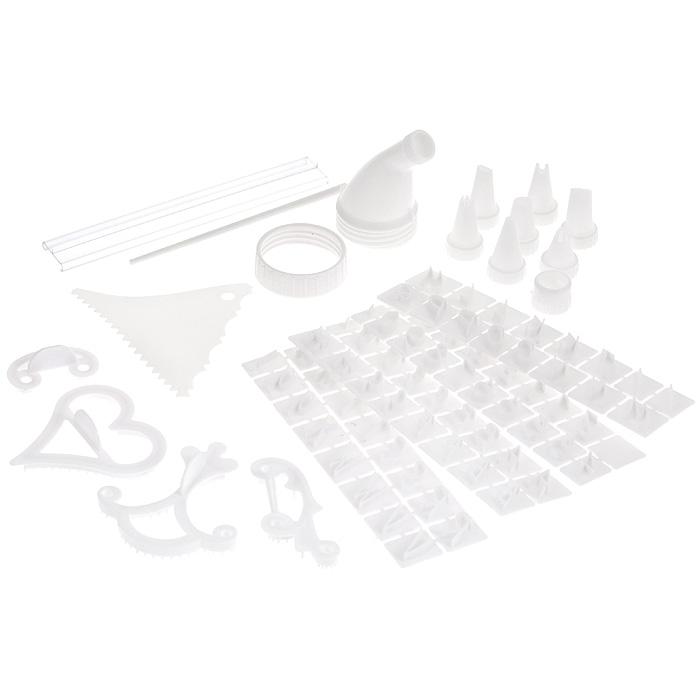 Набор для декорации торта Bradex КондитерTD 0024Набор для декорации торта Bradex Кондитер содержит в себе множество приспособлений для создания настоящего кулинарного шедевра! В набор входит: - аппликатор кондитерский; - кольцо-фиксатор для шприца и полиэтиленового мешочка; - 15 мешочков для крема и глазури; - 7 насадок для кондитерского шприца (насадка для создания лепестков, насадка для создания полос, насадка для создания листочков, насадка для создания цветов, насадка-звездочка, круглая насадка, сетчатая насадка); - держатель для букв и цифр; - 4 формы-трафарета для создания контура узоров (трафарет в виде буквы С, трафарет в виде сердечка, трафарет в виде лилии, трафарет в виде лозы); - шпатель кондитерский; - палочка; - 67 трафаретов для цифр и букв (английский алфавит); - инструкция на русском языке. Предметы набора хранятся в удобном пластиковом кейсе. С набором Bradex Кондитер вы всегда сможете порадовать своих близких оригинальной выпечкой. ...