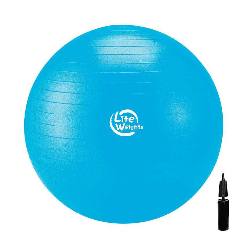 Мяч гимнастический Lite Weights, цвет: голубой, диаметр 75 см1867LWГимнастический мяч Lite Weights является универсальным тренажером для всех групп мышц, помогает развить гибкость, исправить осанку, снимает чувство усталости в спине. Незаменим на занятиях фитнесом и лечебной физкультурой. Главная функция мяча - снять нагрузку с позвоночника и разгрузить суставы. Существует очень немного упражнений, которые помогут прокачать мышцы вокруг позвоночного столба. И инструктора фитнес-клубов очень хорошо знают об этом! Но именно гимнастические мячи способны тренировать спину и улучшать осанку, бороться с искривлениями позвоночника, в особенности у детей и подростков. Гимнастический мяч может использоваться также при массаже новорожденных. Мяч выполнен из ПВХ повышенной прочности с добавлением силикона, это так называемая антиразрывная система. Поэтому с этим мячом вы можете не бояться внезапного резкого разрыва мяча. Преимущества гимнастических мячей: - снабжен системой антивзрыв - специальная технология,...