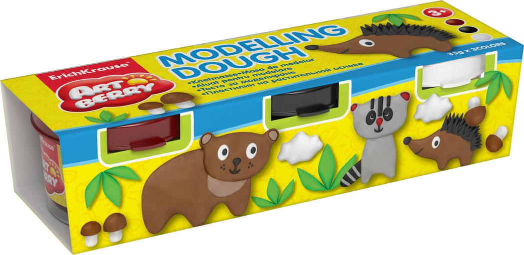 Пластилин на растительной основе Modelling Dough №3, 3 цвета32710Пластилин на растительной основе Modelling Dough - увлекательная игрушка, развивающая у ребенка мелкую моторику рук, воображение и творческое мышление. Пластилин легко разминается, не липнет к рукам и рабочей поверхности, не пачкает одежду. Цвета смешиваются между собой, образуя новые оттенки. Пластилин застывает на открытом воздухе через 24 часа. Набор содержит пластилин 3 цвета (коричневый, черный, белый). Пластилин каждого цвета хранится в отдельной пластиковой баночке. С пластилином на растительной основе Modelling Dough ваш ребенок будет часами занят игрой. Характеристики: Общий вес пластилина: 35 г. Изготовитель: Россия.