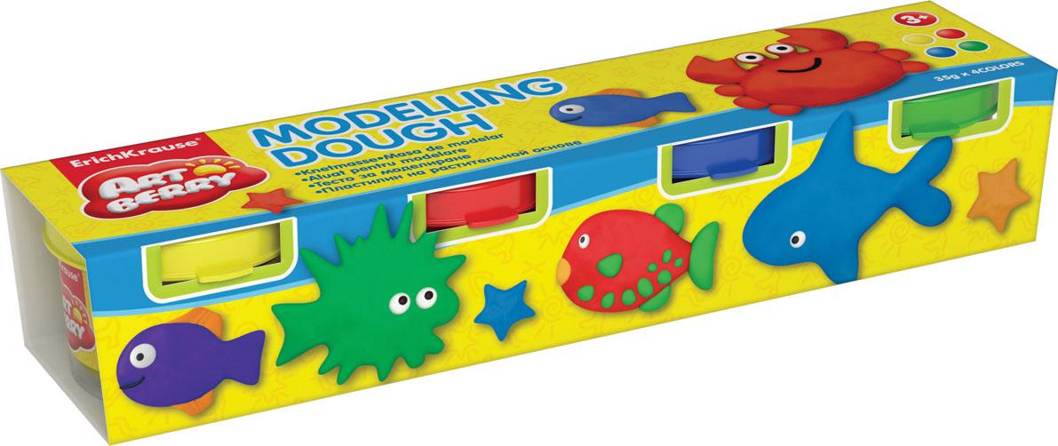 Пластилин на растительной основе Modelling Dough №1, 4 цвета32711Пластилин на растительной основе Modelling Dough - увлекательная игрушка, развивающая у ребенка мелкую моторику рук, воображение и творческое мышление. Пластилин легко разминается, не липнет к рукам и рабочей поверхности, не пачкает одежду. Цвета смешиваются между собой, образуя новые оттенки. Пластилин застывает на открытом воздухе через 24 часа. Набор содержит пластилин 4 цвета (желтого, красного, синего, зеленого). Пластилин каждого цвета хранится в отдельной пластиковой баночке. С пластилином на растительной основе Modelling Dough ваш ребенок будет часами занят игрой. Характеристики: Общий вес пластилина: 35 г. Изготовитель: Россия.