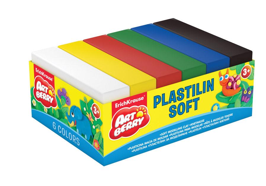 Пластилин Artberry, 6 цветов. 3330212-13/ГППластилин Artberry невероятно мягкий и пластичный, поэтому легкопринимаеттребуемую форму. Не липнет к рукам или рабочей поверхности. Кроме тогоимможно рисовать, из него можно делать мультики, модели на каркасе, амягким он остается в течение 5 лет. Яркие, насыщенные цвета легкосмешиваются для получения новых оттенков.Изготовлен из материалов на натуральной растительной основе, поэтомубезвреден для ребенка. В набор входит пластилин белого, желтого, красного, зеленого, синего, черного цветов. Характеристики: Общий вес пластилина:50 г. Размер бруска:7 см х 3,7 см х 1,5 см.