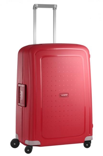 Чемодан Samsonite SCure, 79 л. 10U-10001, красный10U-10001Чемодан Samsonite SCure - это самый легкий чемодан, выполненный из полипропилена Flowlite, очень прочного и устойчивого к износу материала. Особо тонкие створки позволяют разместить вещей намного больше, а внутренние органайзерные ремни, сетки и карманы позволят сохранить в порядке ваши вещи, как долго бы ни длилось путешествие. Высококачественная фурнитура гарантирует прочность всех деталей, надежность молний и плавность выдвижной ручки с регулируемой высотой, а двойные колеса обеспечивают плавность хода вашему чемодану. Чемодан закрывается на защелки и оснащен замком безопасности TSA, который исключает возможность взлома при досмотре во время путешествий. Отверстие в кодовом замке предназначено для работников таможни (открытие багажа для досмотра без присутствия хозяина). Ключ находится только у таможни. Выдвижная ручка, фиксирующаяся в четырех положениях, обеспечивает хорошую устойчивость и может быть отрегулирована под рост каждого ...