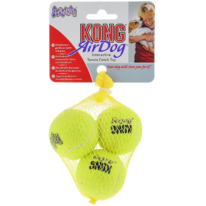 Игрушка для собак Air Теннисный мяч, 3 шт. AST3AST3Игрушка для собак Kong Air Теннисный мяч предназначена для собак мелких пород весом от 1 до 5 кг. Эта игрушка - на 100% настоящий теннисный мяч. Такой мячик имеет непредсказуемую траекторию при отскакивании от земли и может плавать на поверхности воды. В комплекте 3 мяча.