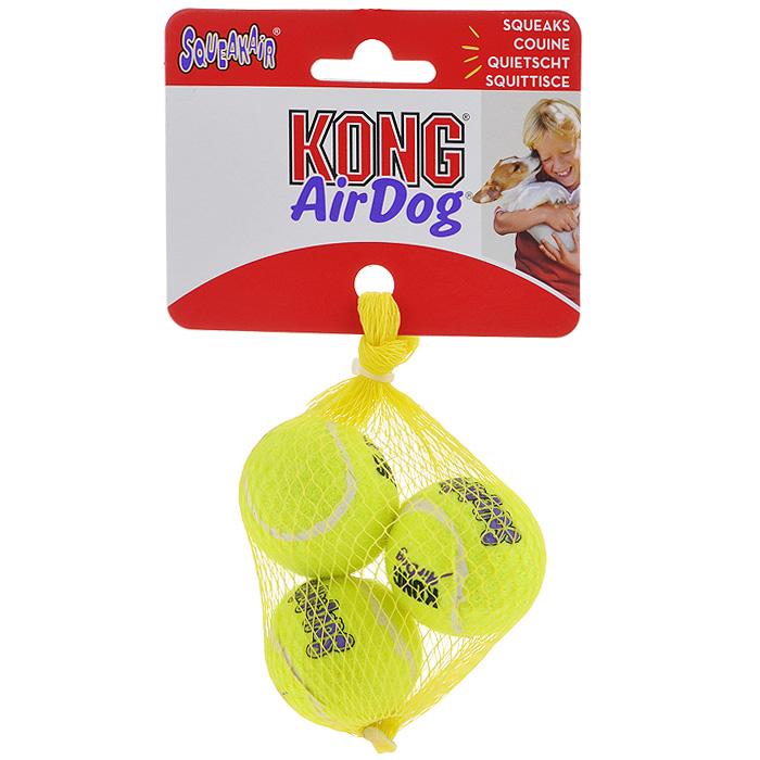 Игрушка для собак Air Теннисный мяч, 3 шт. AST5E0120710Игрушка для собак Kong Air Теннисный мяч предназначена для собак мелких пород весом от 1 до 5 кг. Эта игрушка - на 100% настоящий теннисный мяч. Такой мячик имеет непредсказуемую траекторию при отскакивании от земли и может плавать на поверхности воды.В комплекте 3 мяча.