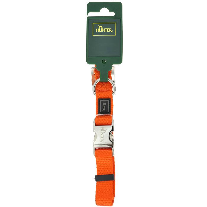 Ошейник для собак Hunter Smart ALU-Strong M, цвет: оранжевый0120710Ошейник для собак Hunter Smart ALU-Strong предназначен для собак средних пород. Ошейник изготовлен из нейлона, оснащен надежной металлической застежкой и металлическим кольцом для поводка. Бегунок позволяет регулировать и фиксировать длину ошейника. Фурнитура выполнена из хромированного металла. Обхват шеи: 35 см - 53 см.Ширина ошейника: 2,5 см.