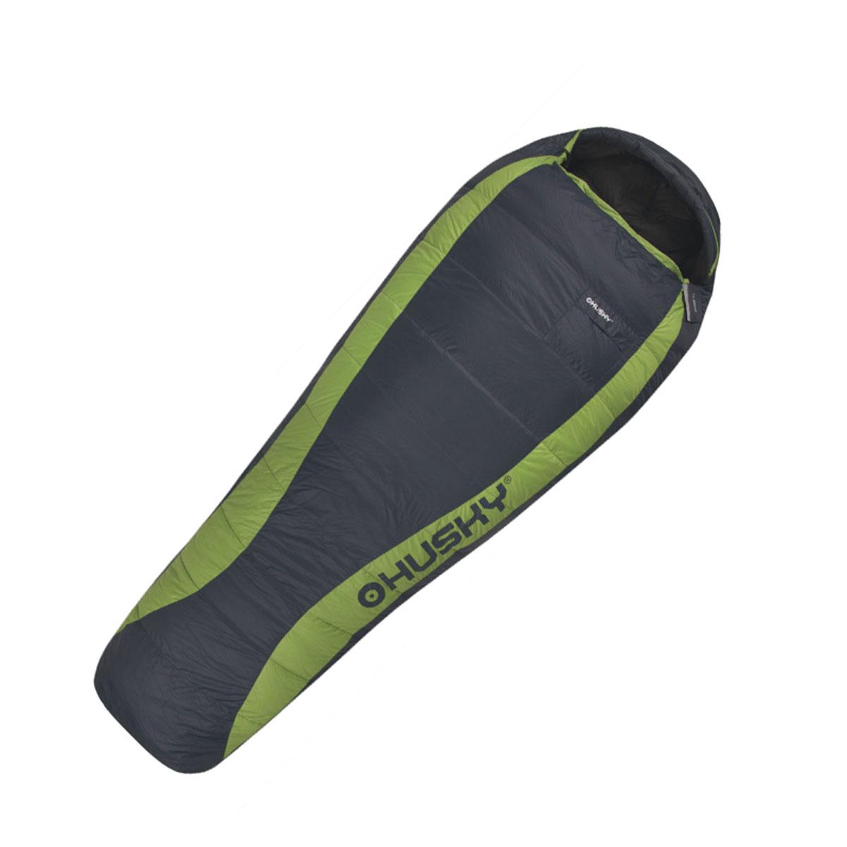 Спальный мешок Husky Dinis, правосторонняя молния, цвет: серый, зеленыйс58836Пуховый спальный мешок с весом всего 830 грамм.Самые современные ткани, внутренний воротник, антискользящие полосы, карманы снаружи и внутри, теплыемолнии YKK, компрессионный мешок.Внутренний материал: 380T нейлон.Внешний материал: 20D нейлон Tactel.Утеплитель: гусиный пух 90/10 700 cuin.
