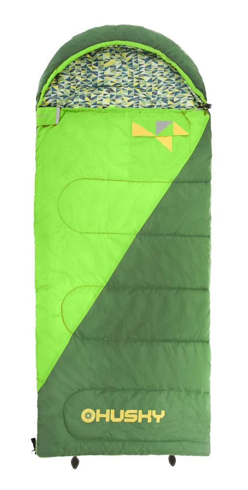 """Спальный мешок-одеяло Husky """"Kids Milen"""", левосторонняя молния, цвет: зеленый УТ-000057582"""