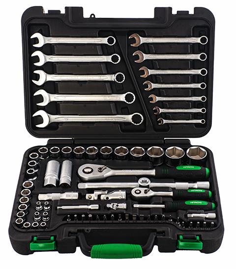 Набор ручного инструмента Hitachi, 73 предмета774013Набор ручного инструмента Hitachi - это необходимый предмет в каждом доме. Он включает в себя 73 предмета, которые умещаются в пластиковом кейсе. Это набор станет незаменимым предметом в вашем хозяйстве. В состав набора входит: 1/4 торцевые головки: 4 мм, 4,5 мм, 5 мм, 5,5 мм, 6 мм, 7 мм, 8 мм, 9 мм, 10 мм, 11 мм, 12 мм, 13 мм, 14 мм; 1/4 трещотка; 1/4 удлинитель: 50 мм; 1/4 удлинитель: 75 мм; 1/4 универсальный переходник; 1/4 вороток: 150 мм; 1/4 TORX биты: T8, T10, T15, T20, T25, T27, T30; 1/4 HEX биты: Н3, Н4, Н5, Н6; 1/4 PHILLIPS биты: №1, №2, №3; 1/4 биты со слотом: 4, 5,5, 6,5, 7; 1/4 POZI биты: №1, №2, №3; 1/2 торцевая головка: 10 мм, 11 мм, 12 мм, 13 мм, 14 мм, 15 мм, 17 мм, 18 мм, 19 мм, 22 мм, 24 мм, 27 мм, 30 мм, 32 мм; 1/2 трещотка; 1/2 удлинитель: 75 мм; 1/2 удлинитель: 250 мм; Трехсторонний адаптер; 1/2 универсальный переходник; 1/2 свечная...