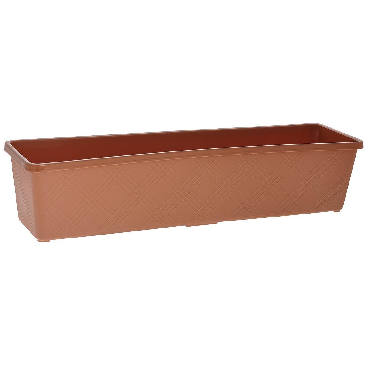 Ящик балконный для цветов FIT, 62 см х 16 см х 13,5 см78118Балконный ящик FIT изготовлен из качественного пластика. Предназначен для выращивания цветов и рассады как на балконе, так и в комнатных условиях. Характеристики: Материал: пластик. Размер ящика (Д х Ш х В): 62 см х 16 см х 13,5 см.