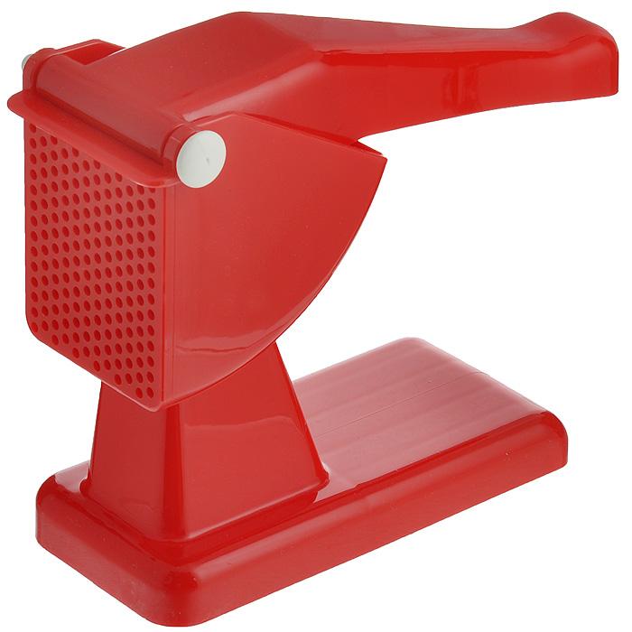 Картофелемялка Rigamonti, цвет: красный4317Картофелемялка Rigamonti, выполненная из высококачественного пластика, станет вашим незаменимым помощником на кухне. Картофелемялка предназначена для получения пюре из любых отварных овощей. Картофелемялка Rigamonti - практичный и необходимый подарок любой хозяйке! Характеристики: Материал: пластик. Размер картофелемялки (Д х Ш х В): 25 см х 9 см х 21,5 см.