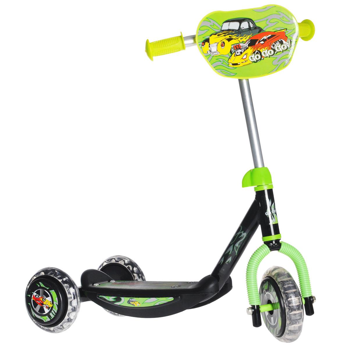 Самокат детский трехколесный Charming Sports, цвет: зеленый