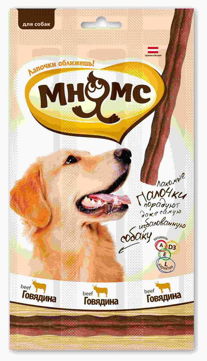 Лакомые палочки для собак Мнямс, с говядиной, 3х15 г700200Лакомые палочки с говядиной Мнямс - это вкусное и здоровое угощение для собак с большим содержанием мяса, которое придется по вкусу даже самому капризному любимцу. Палочки легко ломаются, идеально подходят в качестве поощрения для игр и тренировок. Норма употребления: давать в виде дополнения к основному питанию. Собаки мелких пород: 1-2 палочки в день. Собаки средних и крупных пород: 3-4 палочки в день (в зависимости от размера и активности собаки). Свежая вода должна быть всегда доступна вашему питомцу. Без искусственных ароматизаторов и красителей. Состав: мясо и продукты животного происхождения (90%, из них 31% говядина), производные растительного происхождения, минералы, витамин А 5000 ME/кг, витамин D3 500 ME/кг, L-карнитин 1000 мг/кг, витамин Е 50 мг/кг, антиоксиданты, консерванты. Белок 30%, жир 23%, клетчатка 3%, зола 7,5%. Товар сертифицирован.