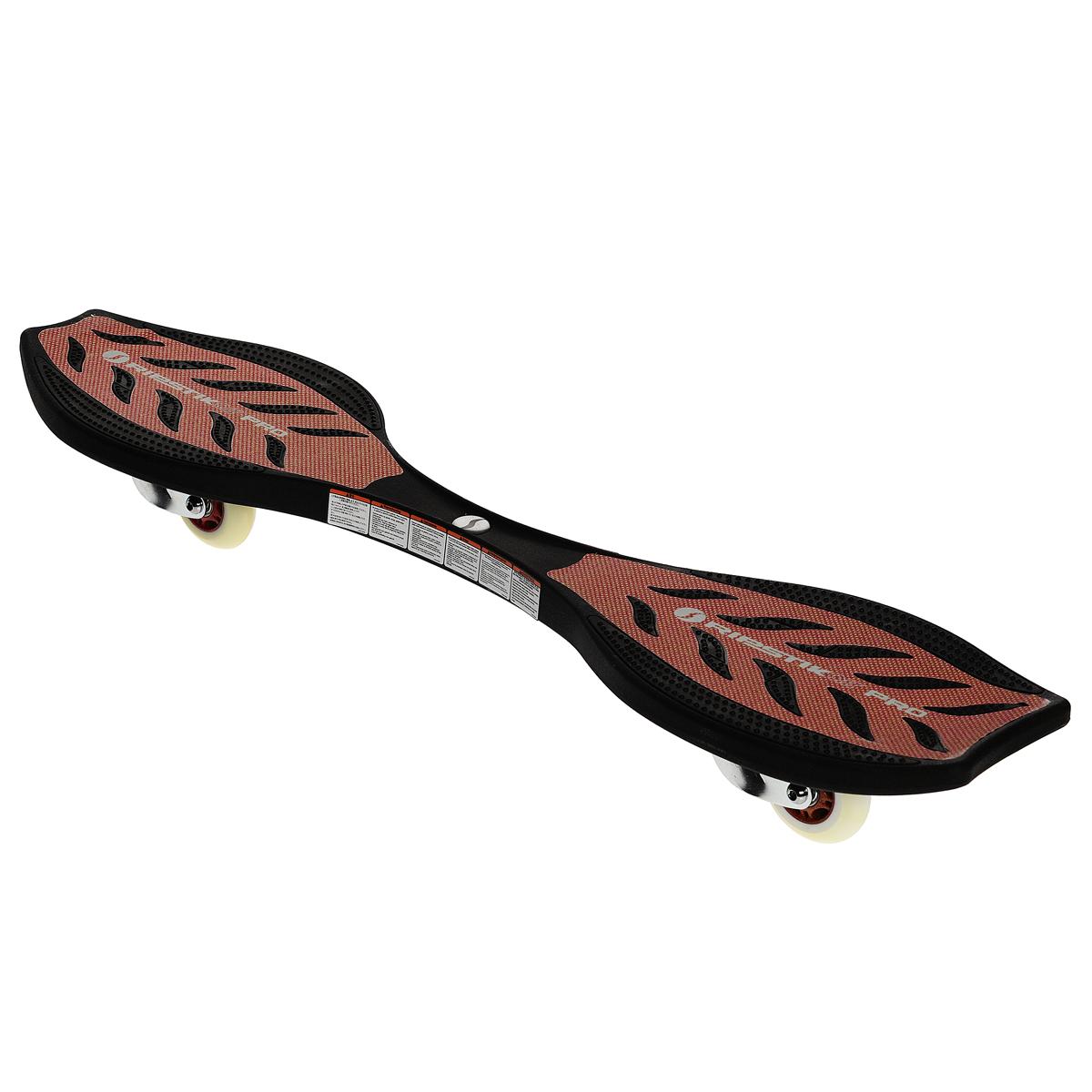 Скейтборд Ripstik Air Pro, двухколесный, цвет: красный2408Балансирующий скейтборд Ripstik Air Pro с двумя колесами - отличный выбор для опытных скейтбордистов, а также людей, любящих активно проводить время. Колеса скейтборда выполнены из прочного полиуретана и вращаются на 360°. В последнее время экстремальные виды спорта, такие как катание на скейтборде, становятся очень популярными. Скейтбординг - это зрелищный и экстремальный вид спорта, представляющий собой катание на роликовой доске с преодолением препятствий и выполнением различных трюков.