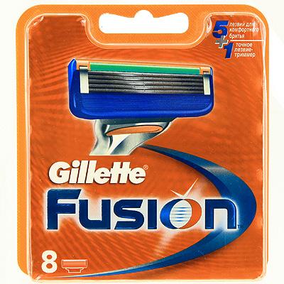 Gillette Сменные кассеты для бритья Fusion, 8 штGIL-75048934Gillette - лучше для мужчины нет! Технология 5-лезвийной бреющей поверхности: 5 лезвий PowerGlide, расположенных ближе друг к другу, позволяют снизить давление на кожу для уменьшения раздражения и большего комфорта, чем у Mach3. Микроимпульсы снижают трение и обеспечивают более гладкое скольжение бритвы. 15 специальных микро-гребней Fusion помогают разглаживать неровную поверхность кожи, позволяя 5 лезвиям скользить максимально гладко. Увлажняющая полоска теряет цвет, сигнализируя о необходимости сменить лезвие. - При покупке упаковки сменных кассет Fusion или Fusion Power из 8 шт. вы экономите до 20% по сравнению с покупкой четырех упаковок из 2 шт. (на основании отпускной цены Procter&Gamble). - Технология из 5 лезвий обеспечивает меньшее давление на кожу по сравнению с бритвами Mach 3. - Улучшенная увлажняющая полоска обеспечивает еще более плавное скольжение картриджа по поверхности кожи по сравнению с бритвами Mach 3. -...