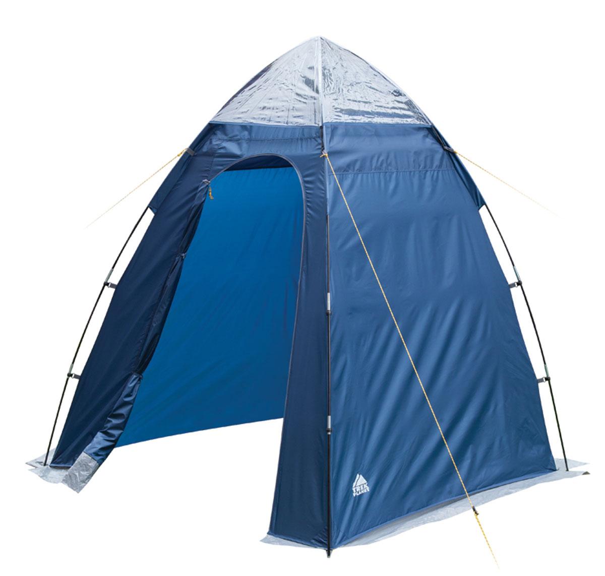 Тент Trek Planet Aqua Tent для душа/туалета, 165 см х 165 см х 200 см, цвет: синий, голубой70254Универсальный тент-шатер Trek Planet Aqua Tent. Применяется для оборудования душа или туалета. Незаменим при длительном кемпинге или в полевом лагере. Оборудован верхней вентиляцией. Особенности тента: - внутренние большие карманы вверху палатки для туалетных принадлежностей; - крючок для подвески душа вверху тента, также может использоваться для подвески фонаря; - каркас выполнен из прочного стеклопластика; - защитная юбка по периметру; - водостойкость 800 мм. Палатка упакована в сумку-чехол с ручками, застегивающуюся на застежку-молнию. Размер в сложенном виде 15 см х 59 см.