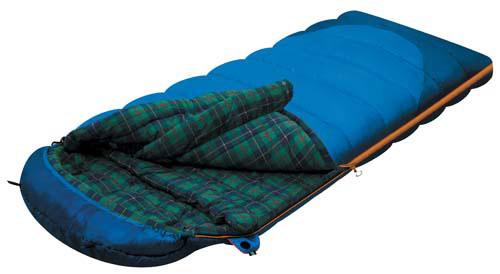 Спальный мешок-одеяло Alexika Tundra Plus, цвет: синий, правосторонняя молния. 9257.010519257.01051