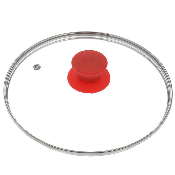 Крышка стеклянная Jarko Silk, цвет: красный. Диаметр 22 смCM000001326Крышка Jarko Silk, изготовленная из термостойкого стекла, позволяет контролировать процесс приготовления пищи без потери тепла. Ободок из нержавеющей стали предотвращает сколы на стекле. Крышка оснащена отверстием для паровыпуска. Эргономичная силиконовая ручка не скользит в руках и не нагревается в процессе приготовления пищи.