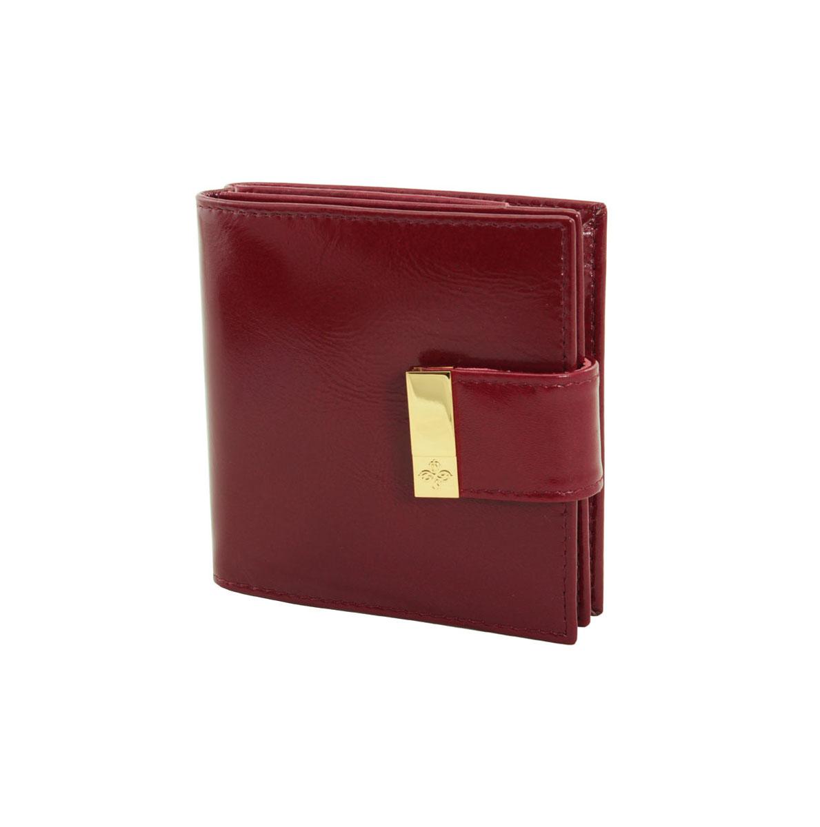 Кошелек женский Dimanche Elite Гранат, цвет: бордовый. 153153Женский кошелек Dimanche Elite Гранат выполнен из натуральной кожи бордового цвета и состоит из двух отделений. В первом, закрывающемся на кнопку, имеется четыре кармашка для кредитных карт или визиток и кармашек для монет с клапаном на кнопке. Второе отделение закрывается также на кнопку хлястиком и содержит два кармана для купюр. Между отделения также имеется кармашек. Такой кошелек станет отличным подарком для человека, ценящего качественные и стильные вещи. Кошелек упакован в фирменную подарочную коробку.