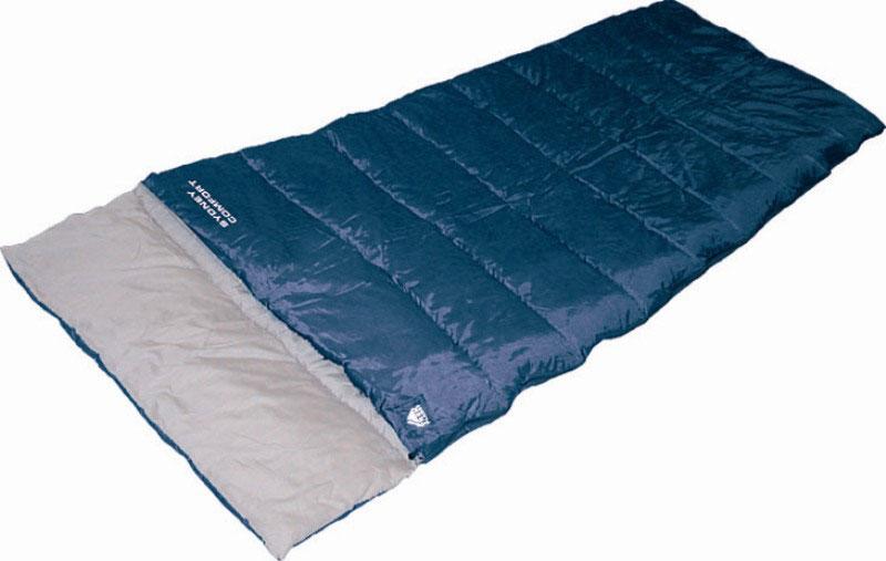 Спальный мешок TREK PLANET Sydney Comfort, цвет: синий, правосторонняя молния70380Комфортный и очень удобный в использовании спальник-одеяло c подголовником TREK PLANET Sydney Comfort предназначен для походов преимущественно в летний период. Этот спальник пригодится вам во время поездки на пикник, на дачу, во время туристического похода или поездки на рыбалку. К его несомненным достоинствам можно отнести то, что в остальное время его можно использовать как одеяло для гостей. ОСОБЕННОСТИ СПАЛЬНИКА: - Двухсторонняя молния. - Подголовник. - Термоклапан вдоль молнии. - Внутренний карман. - Небольшой вес. - Состегивание двух спальников модели невозможно. К спальнику прилагается чехол для удобного хранения и переноски. Характеристики: Цвет: синий. Температура комфорта: +10°C. Температура лимит комфорта: +6°C. Температура экстрима: -5°C. Внешний материал: 100% полиэстер. Внутренний материал: 100% полиэстер. Утеплитель: Hollow Fiber 1x300 г/м2. Размер: (200+30) см х...