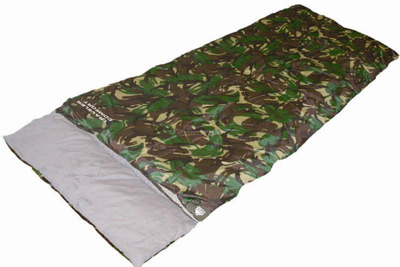 Спальный мешок TREK PLANET Traveller Comfort XL, цвет: камуфляж, правосторонняя молния70382-RКомфортный и удобный в использовании спальник-одеяло с подголовником TREK PLANET Traveller Comfort предназначен для походов преимущественно в летний период. Идеально подойдет для людей, любящих походы, рыбалку, охоту или просто качественные камуфляжные вещи в цветах британского DPM.Основное достоинство этого спальника - его огромный размер - метр в ширину. Поэтому этот спальный мешок популярен среди больших людей, выбирающихся на пикник, на дачу, в туристический поход или на рыбалку. Можно также использовать как огромное одеяло. ОСОБЕННОСТИ СПАЛЬНИКА: - Двухсторонняя молния. - Термоклапан вдоль молнии. - Внутренний карман. - Огромный размер. - Состегивание двух спальников модели невозможно. К спальнику прилагается чехол для удобного хранения и переноски. Характеристики: Цвет: камуфляж. Температура комфорта: +10°C. Температура лимит комфорта: +6°C. Температура экстрима: -5°C. Внешний материал: 100%...