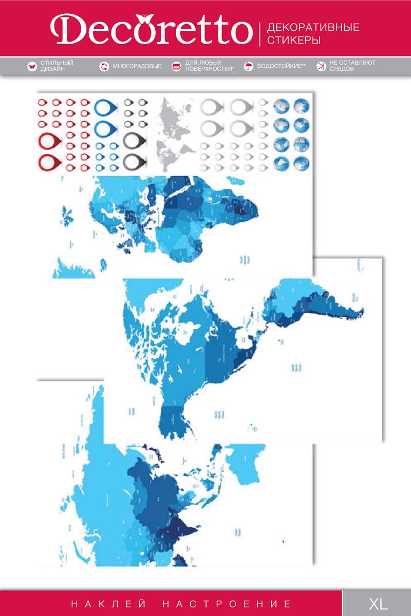 Украшение для стен и предметов интерьера Decoretto Синяя картаUI 7001Украшение для стен и предметов интерьера Decoretto Синяя карта - это удивительно простой и быстрый способ оживить интерьер помещения. Интерьерные наклейки дадут вам вдохновение, которое изменит вашу жизнь и поможет погрузиться в мир ярких красок, фантазий и творчества. Украшение состоит из 3 основных, которые составляют общую карту, и 67 дополнительных самоклеющихся элементов. Преимущества украшений Decoretto: - изготовлены из экологически безопасной самоклеющейся виниловой пленки с водоотталкивающей поверхностью, абсолютно безопасны для здоровья детей; - быстро и легко наклеиваются на любые ровные поверхности: стены, окна, двери, кафельную плитку, виниловые и флизелиновые обои, стекла, мебель; - при необходимости удобно снимаются, не оставляют следов и не повреждают поверхность (кроме бумажных обоев); - многоразовые - если вы решите изменить композицию, то просто снимите наклейки и наклейте их в другом месте; - специальный...