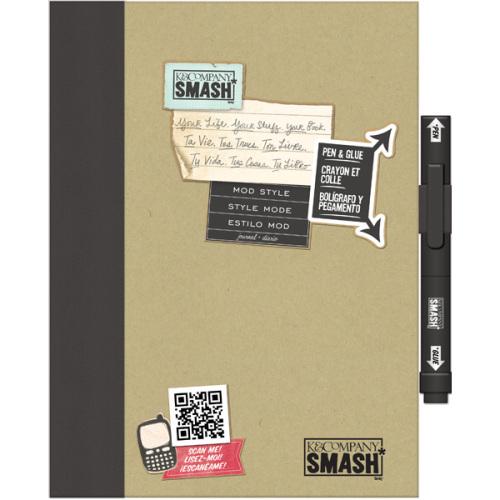 Папка K&Company Smash: Модный, цвет: черный, 26 х 20 смC0044108Папка Smash используется для создания памятных альбомов и записных книжек. Папка содержит тематически оформленные страницы и памятные фразы на иностранном языке. Включает в себя 40 страниц и ручку-клей Smash черного цвета (без кислоты, архивного качества).