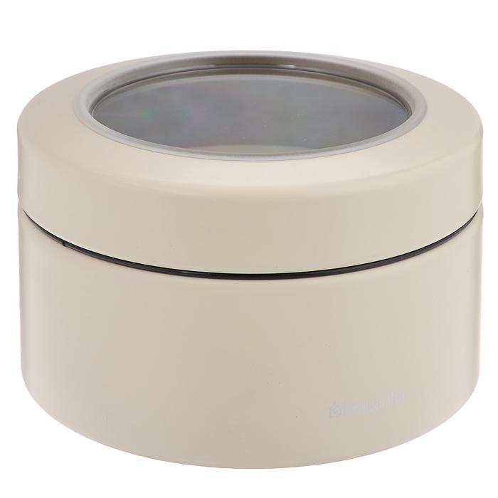 Контейнер Brabantia с крышкой, 0,5 л, цвет: молочный. 477980477980Контейнер Brabantia прекрасно подойдет для хранения сладостей. Он изготовлен из стали. Благодаря прозрачности крышки вы можете видеть содержимое контейнера. Удобный и легкий контейнер позволит вам хранить всевозможные сладости, а благодаря современному дизайну он впишется в любой интерьер. Характеристики: Материал: сталь. Размер контейнера: 10,5 см х 10,5 см х 6,5 см. Объем контейнера: 0,5 л. Гарантия производителя: 5 лет.