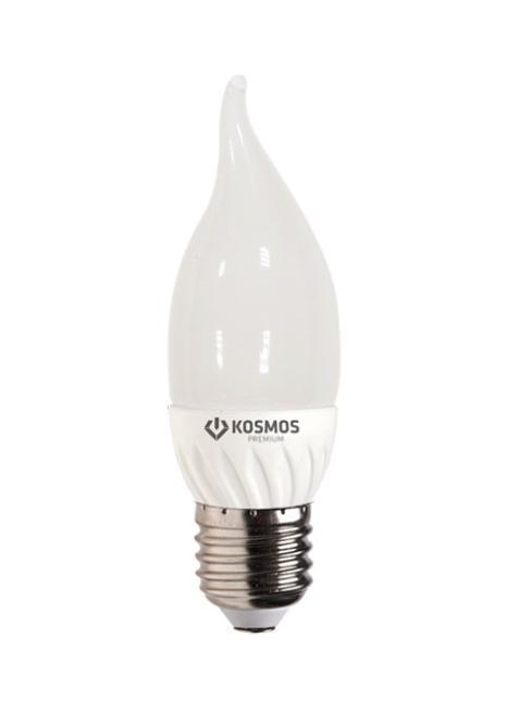Светодиодная лампа Kosmos Premium, теплый свет, цоколь Е27, 3WKLED3wCW230vE2727Использование светодиодов от мирового лидера SAMSUNG и предоставление 2 лет гарантии – залог надежной и стабильной работы лампы. Теплый оттенок света лампы по цветовой температуре соответствует обычной лампе накаливания и позволит создать уют в спальнях и местах отдыха.
