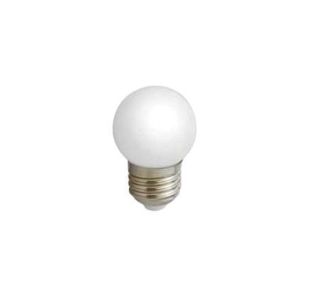 Лампа светодиодная Estares Шарик, холодный белый свет, цоколь Е27, 3W10212Светодиодная лампа Estares Шарик инновационный и экологичный продукт, специально разработанный для эффективной замены любых видов галогенных или обыкновенных ламп накаливания во всех типах осветительных приборов. Имеет встроенный полноценный блок питания, что значительно увеличивает срок службы лампы. Не имеет вредных излучений UF и IR. Материал: металл, пластик. Диаметр: 4 см. Общая длина: 6,2 см. Угол рассеивания: 240°. Средний срок службы: 50000 часов. Напряжение: 110-265 В.