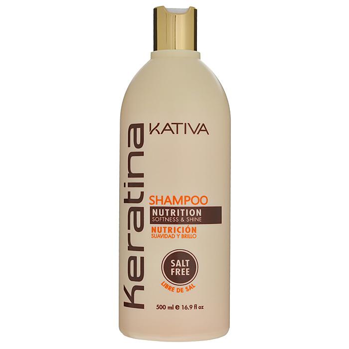 Kativa Укрепляющий шампунь с кератином для всех типов волоc KERATINA, 500 млБ33041_шампунь-барбарис и липа, скраб -черная смородинаРоскошный шампунь, богатый кератином, обеспечивает надежную защиту и восстановление окрашенных волос, а также волос, поврежденных механическими или температурными воздействиями. Защищает волосы, предотвращает их ломкость. Шампунь обогащен аргановым маслом и кератином. Увлажняет волосы, оставляет их блестящими и гладкими. Защищает волосы и предотвращает их сухость. Способствует выпрямлению. Укрепляет и восстанавливает волосы после химических воздействий. Не содержит сульфата.Способ применения: равномерно нанесите на влажные волосы, вспеньте и сделайте легкий массаж. Тщательно смойте. При необходимости повторите процедуру.