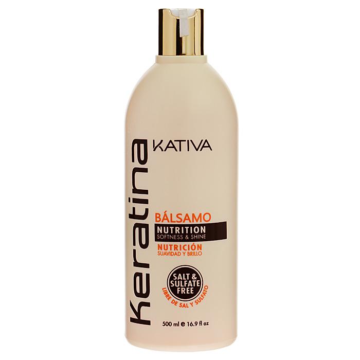 Kativa Бальзам-кондиционер Keratina, для всех типов волос, 500 мл65866212Укрепляющий бальзам-кондиционер превосходно восстанавливает природную упругость и поврежденных и чувствительных прочность волос, укрепляет их, придавая блеск и мягкость. Придает им игривый блеск, облегчает расчесывание и защищает от воздействия внешних факторов. Бальзам обогащен аргановым маслом и кератином. Не содержит сульфата. Способ применения : нанесите на чистые вымытые волосы только по длине, оставьте на 5 минут для воздействия, а затем тщательно смойте. Товар сертифицирован.