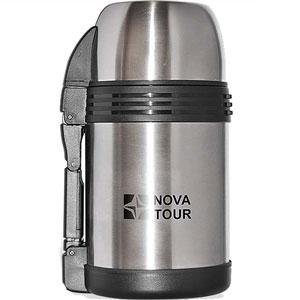 Термос из нержавеющей стали NOVA TOUR Биг Бэн 1200, 1,2 л115510Современный и функциональный термос NOVA TOUR Биг Бэн 1200 с широким горлом, выполненный из пищевой нержавеющей стали. Имеет поворотный клапан (достаточно повернуть пробку на пол-оборота чтобы налить содержимое из термоса). Клапан дает возможность при наливании не открывать термос целиком для меньшего охлаждения содержимого. Складная пластмассовая рукоятка для удобства наливания содержимого. Регулируемый ремешок для переноски термоса в комплекте. Имеет дополнительную пластиковую миску под крышкой термоса.