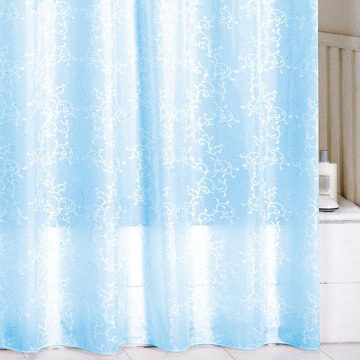 Штора для ванной комнаты Milardo Blue Leaf, 180 х 200 см SCMI083PSCMI083PШтора для ванной комнаты Milardo, изготовлена из полиэстера с водоотталкивающей пропиткой, декорирована витиеватым рисунком. Штора быстро сохнет, легко моется (разрешена деликатная стирка в стиральной машине при температуре 30°С без отжима) и обладает повышенной износостойкостью, благодаря двойной обработке краев и устойчивым красителям. Вверху предусмотрены металлические люверсы. В комплекте также имеется 12 пластиковых колец. Штора для ванной Milardo порадует вас своим ярким дизайном и добавит уюта в ванную комнату.