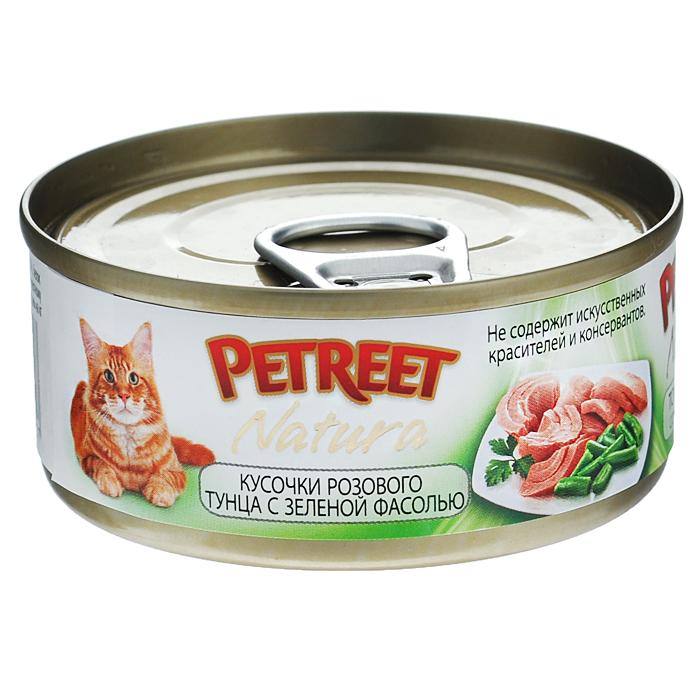 Консервы для кошек Petreet Natura, с кусочками розового тунца и зеленой фасолью, 70 г0120710Полноценный сбалансированный корм для взрослых кошек всех пород. Консервы Petreet в виде нежного паштета изготовлены исключительно из натуральных продуктов и не оставят равнодушным ни одного питомца. В их состав входит до 64% основного компонента - мяса тунца, а это значит, что продукт богат протеином - источником бодрости вашей кошки. Для поддержания здоровья внутренних органов и зрения в состав консервов входит аргинин, таурин и незаменимые жирные кислоты Омега 3 и Омега 6. Идеально подходит для кастрированных и стерилизованных кошек. Некоторые виды содержат рис, восполняющий недостаток витамина В. В состав консервов входят различные деликатесные добавки в виде морепродуктов, овощей и фруктов, так что можно легко выбрать подходящий вариант даже для самой привередливой кошкиОснову консервов Petreet Natura с кусочками розового тунца и зеленой фасолью, нежное розовое мясо стейковой части тунца с добавлением зеленой фасоли. При умеренной калорийности в корме содержится высокий уровень белка (15%). Состав: тунец (60%), зеленая фасоль (4%), рисовая мука (1%), витамины А, D3, Е. Анализ: влажность - 84,0%, белок - 15,0%, клетчатка - 0,3%, жир - 1,6%, зола - 0,5%, витамин А - 666 МЕ/кг, витамин D3 - 50 МЕ/кг, витамин Е - 20 МЕ/кг. Вес 70 г. Товар сертифицирован.