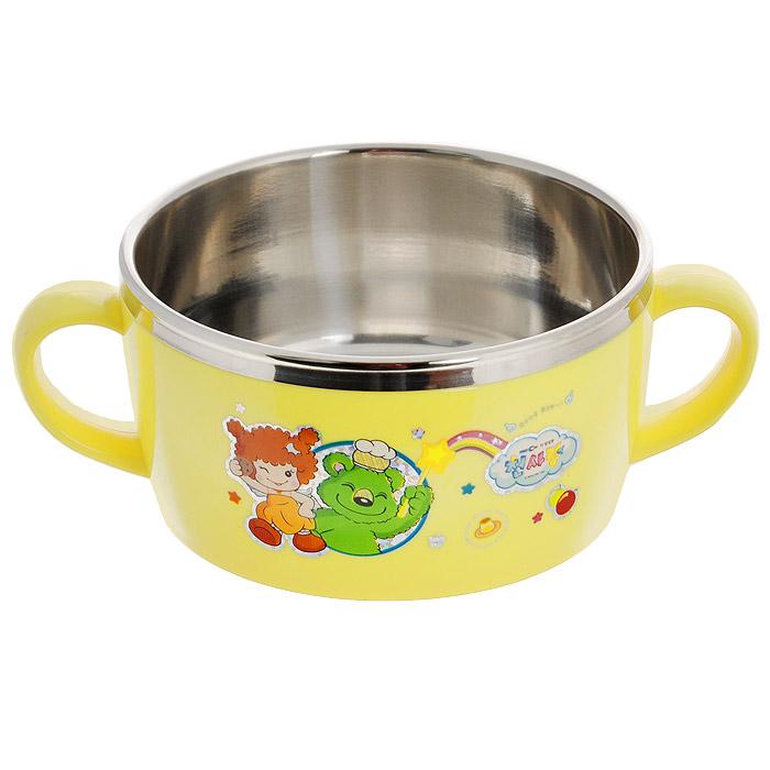Миска для детей SunWoo Angel, цвет: желтый, 250 млSW4003
