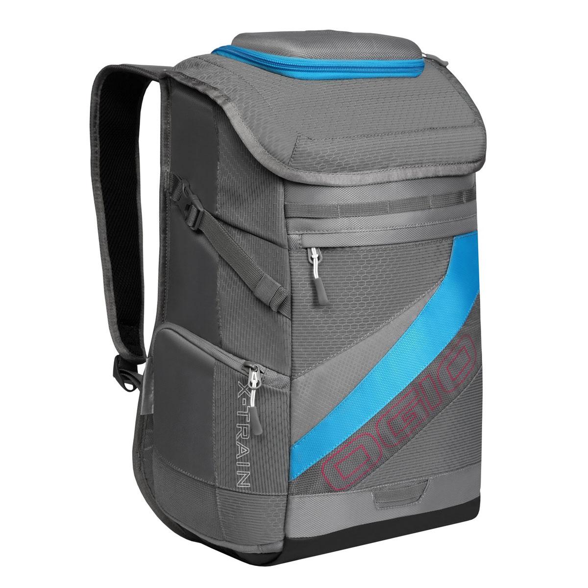 Рюкзак спортивный OGIO X-Train, цвет: серый, голубой. 112039.376112039.376Спортивный рюкзак OGIO X-Train - это отличный помощник в вашей жизни. Он отлично подойдет для занятия спортом, фитнессом, туризмом, и для повседневной носки. Особенности: Удароустойчивый армированный карман. Отстегиваемая внешняя лямка для крепления шлема. Боковые ремешки для крепления полотенец или ковриков. Специальный отдел для хранения сухой/мокрой одежды или обуви в режиме тренировки или для iPad в режиме обучения. Высокопрочные и легкие материалы. Перегородка отделяет основное отделение от отделения для мокрой/сухой одежды или обуви. Особое покрытие отделения для мокрой/сухой одежды или обуви облегчает чистку. Эргономичные, регулируемые плечевые лямки, подбитые мягким материалом. Устойчивая к трению брезентовая основа. Встроенный полноразмерный карман для бутылки. Регулируемый нагрудный ремень. Объем: 23 л. Материал: Кросс-добби 420D, гекс-рипстоп 210D.