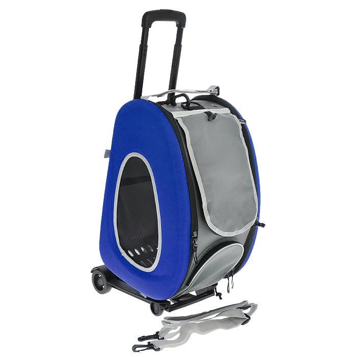 Cумка-тележка для собак 3в1 Ibiyaya, до 8 кг, цвет: синий, 34 см х 30 см х 58 см340900Невероятно удобный дизайн и стиль сумки тележки 3 в 1 Ibiyaya для собак до 8 кг поможет в путешествиях и прогулках вам и вашему питомцу. Многофункциональная, из прочного плотного материала, легко складывается и раскладывается, имеет объемный карман на молнии и вход на молнии с сетчатым окошком, закрывающийся накладкой на липучке, боковые стороны также имеют сетчатые окошки и овальные отверстия все это сумка-тележка. В сложенном виде это компактный кейс который занимает минимум места. Сумку можно использовать как рюкзак, как сумку через плечо и пристегивать как авто-кресло в автомобиле. Внутри имеется ремешок пристегивающийся к ошейнику, мягкая подстилка на липучках которую можно поменять на разовую пеленку. Дизайн сумки разработан с учетом последних модных тенденций и выгодно выделяет модель среди аналогичных товаров. Можно выбрать цвет: синий, оранжевый, лайм. В комплекте - инструкция с картинками по сборке сумки на русском языке. Полный размер: 58 см х 30 см...