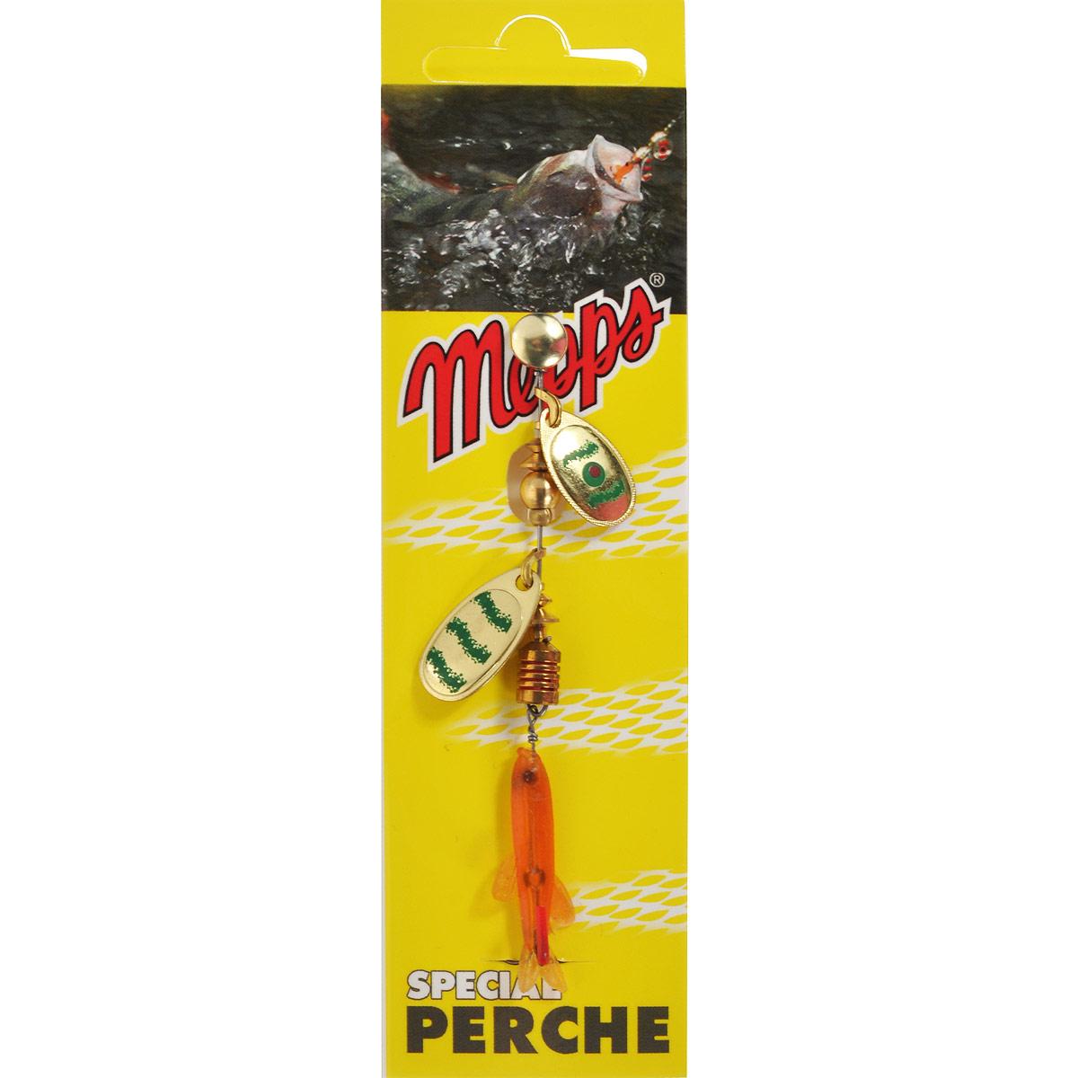 Блесна Mepps Tandem Perch OR/VERT, вращающаяся10948Вращающаяся блесна Mepps Tandem Perch OR/VERT в первую очередь рассчитана на ловлю окуня, который наиболее распространен в большинстве рек и озер. Двойной лепесток Tandem Perch и плавное погружение дают быстрые и сверх привлекательные сигналы, что вызывает у хищника желание полакомиться мальком.