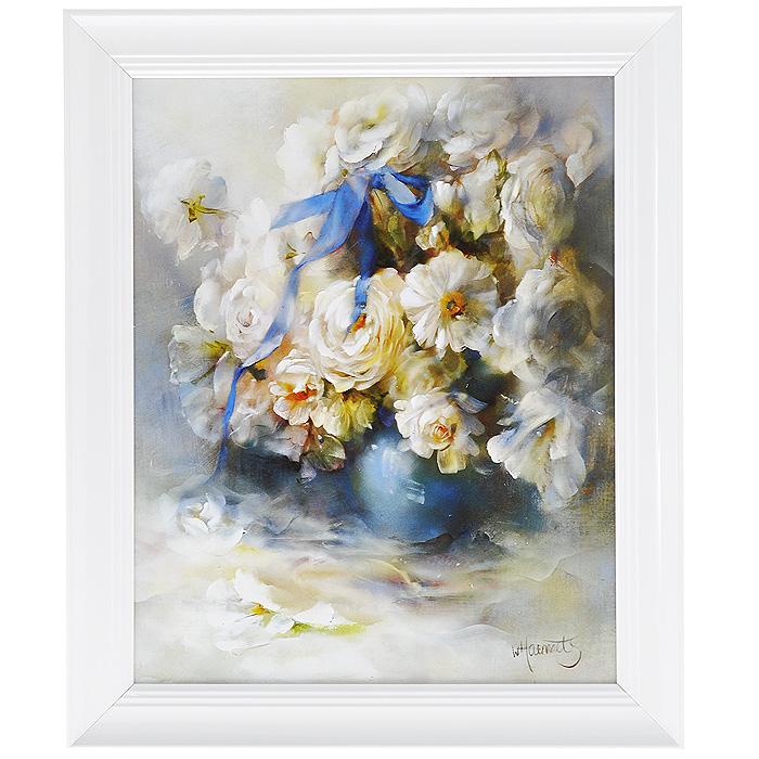 Постер в раме Postermarket Белые цветы, цвет рамки: белый, 24 см х 30 смU210DFХудожественная репродукция картины В. Хаенраетса Белые цветы.Картина для интерьера (постер) - современное и актуальное направление в дизайне любых помещений. Постер Белые цветы может использоваться для оформления множества интерьеров: дома, офиса (комната переговоров, холл, кабинет), бара, кафе, ресторана или гостиницы.Картина является отличным подарком.Картины предоставляемые компанией Постермаркет:- изготовлены в Швейцарии; - собраны вручную из лучших импортных комплектующих; - надежно упакованы в пленку с противоударными уголками.