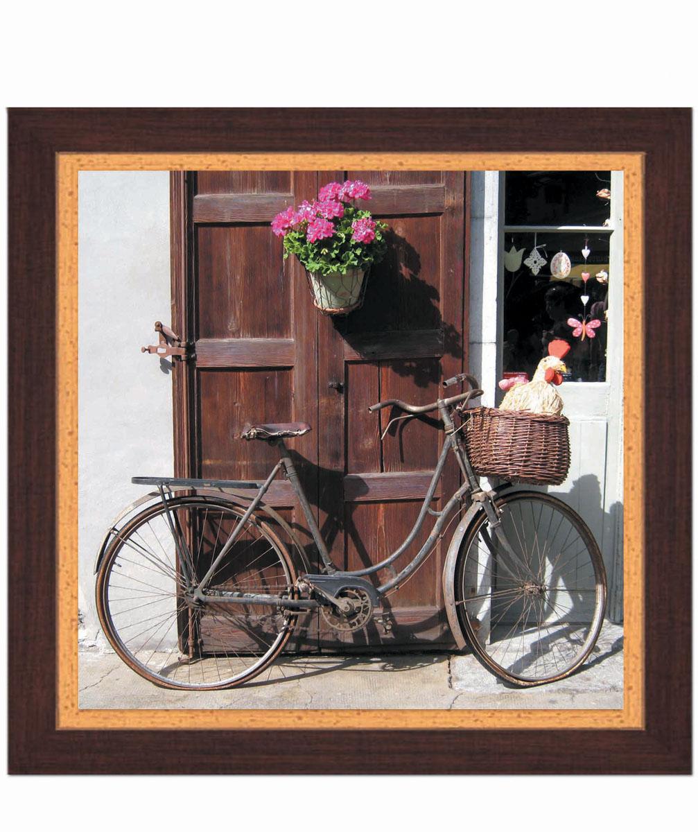 Постер в раме Postermarket Велосипед, 30 х 30 смPM-3003Картина для интерьера (постер) - современное и актуальное направление в дизайне любых помещений. Постер с красочным изображением велосипеда оформлен в раму коричневого цвета, выполненную из пластика под дерево. Картина защищена прозрачным пластиком. С задней стороны имеется петелька для подвешивания к стене. Картина может использоваться для оформления любых интерьеров: - дом, квартира (гостиная, спальня, кухня, прихожая, детская); - офис (комната переговоров, холл, кабинет); - бар, кафе, ресторан или гостиница. Картины, предоставляемые компанией Постермаркет: - собраны вручную из лучших импортных комплектующих; - надежно упакованы в пленку с противоударными уголками.