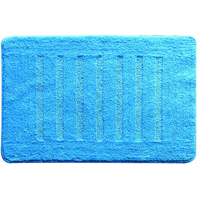 Коврик для ванной комнаты Milardo Blue Lines, 50 см х 80 см. MMI182MMMI182MКоврик для ванной комнаты Milardo Lines выполнен из микрофибры (100% полиэстер) - это особо мягкий материал, изготовленный из тончайших волокон. Коврик удивительно приятен и нежен на ощупь, обладает уникальными впитывающими свойствами. Он имеет латексную основу, благодаря которой он не скользит по полу. Края коврика обработаны оверлоком. Можно использовать на полу с подогревом. Коврик можно стирать в стиральной машине в щадящем режиме при температуре не выше 40°C отдельно от остального белья.