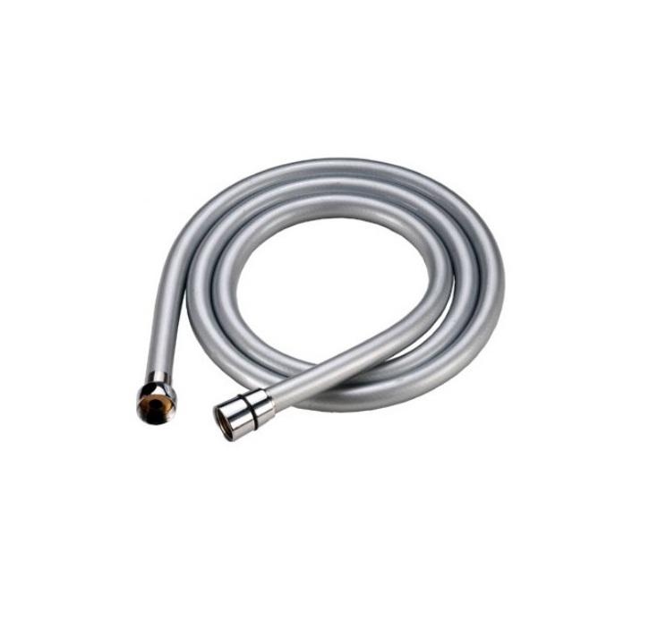 Шланг для душа Iddis, усиленный, 2 м. A5071120A50711 2.0Гибкий усиленный шланг Iddis выполнен из ПВХ. Стальная гильза препятствует расширению внутреннего диаметра шланга в месте его соединения со штуцером, предотвращая срыв шланга со штуцера. Система Twist-Free предотвращает перекручивание шланга, что позволяет комфортно принимать душ, а также продлевает срок службы изделия. Шланги комплектуются прокладкой с фильтром 100 мкм, который предотвращает засорение форсунок лейки. Толщина стенок шланга: 2,2 мм. Толщина стальной гильзы: 0,4 мм. Внешний диаметр шланга: 14 мм. Внутренний диаметр шланга: 8,5 мм.