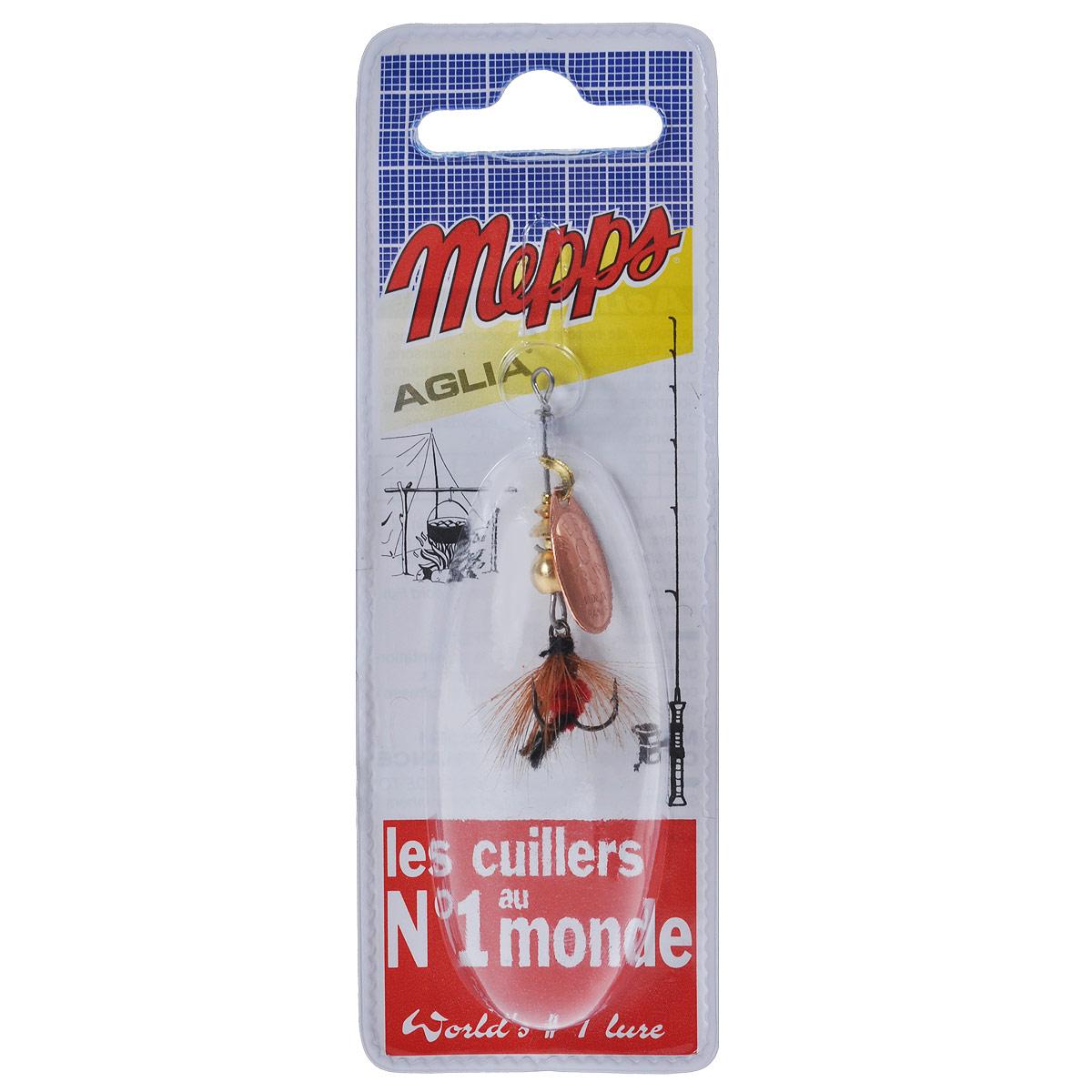 Блесна Mepps Aglia CU Mouch. Rouge, вращающаяся, №05748Вращающаяся блесна Mepps Aglia CU Mouch. Rouge оснащена мушкой из натурального беличьего хвоста, это очень эффективные приманки для ловли жереха, голавля, язя, окуня и других видов рыб, особенно в периоды массового вылета насекомых. Aglia Mouche - некрупная блесна, которая особенно подходит для летней ловли рыбы (особенно осторожной) на мелководье.