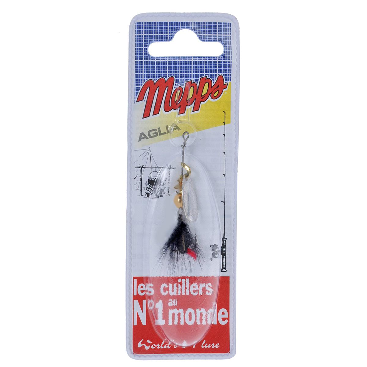 Блесна Mepps Aglia AG Mouch. Noire, вращающаяся, №05761Вращающаяся блесна Mepps Aglia AG Mouch. Noire оснащена мушкой из натурального беличьего хвоста, это очень эффективные приманки для ловли жереха, голавля, язя, окуня и других видов рыб, особенно в периоды массового вылета насекомых. Aglia Mouche - некрупная блесна, которая особенно подходит для летней ловли рыбы (особенно осторожной) на мелководье.