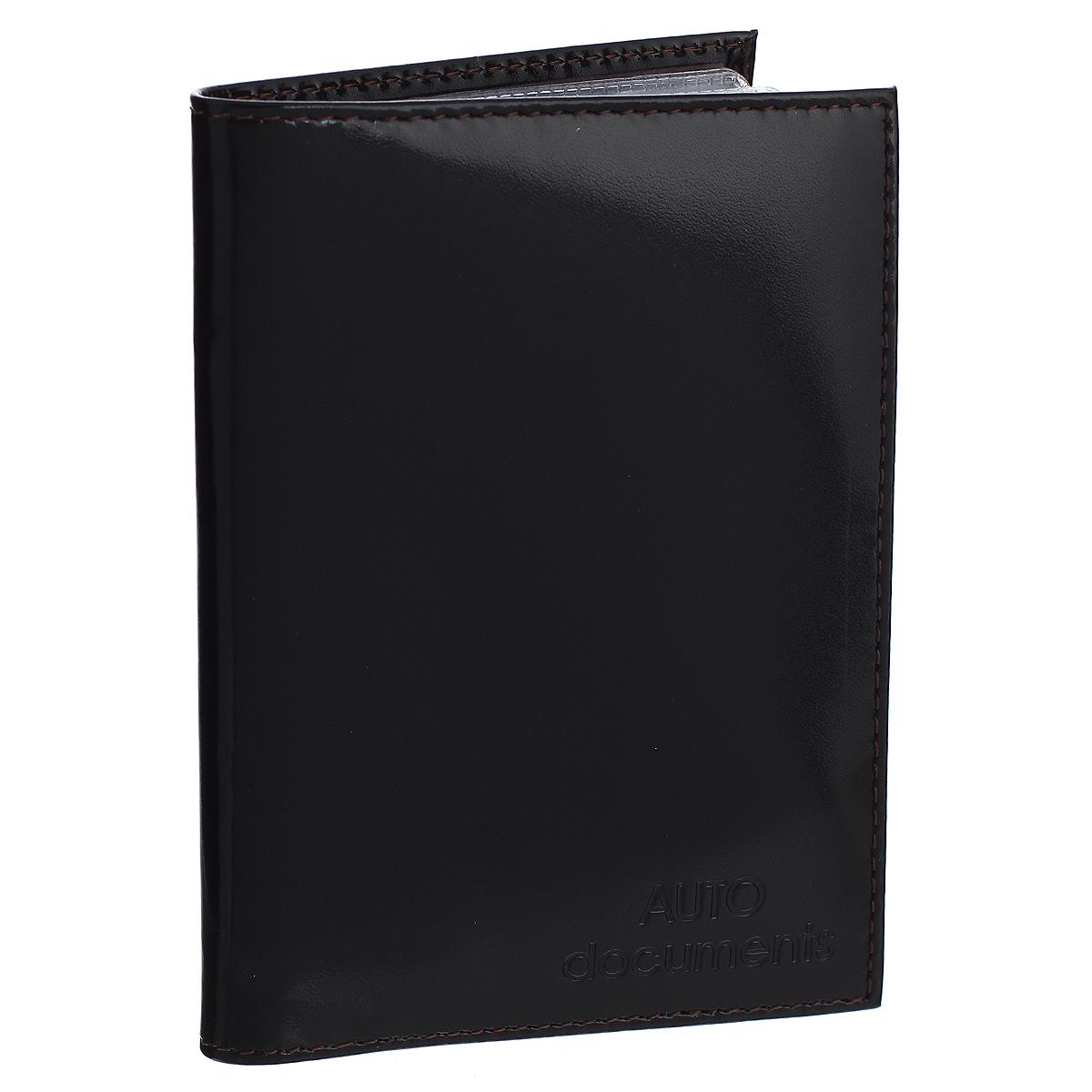 Бумажник водителя Befler Classic, цвет: черный. BV.20.-1BV.20.-1.blackБумажник водителя Befler Classic выполнен из натуральной гладкой кожи. На внутреннем развороте имеет один глубокий вертикальный карман из кожи и 4 прорезных кармашка для кредитных карт и визиток, прозрачный кармашек и внутренний блок для водительских документов из прозрачного пластика (6 карманов). Такой бумажник станет отличным подарком для человека, ценящего качественные и необычные вещи.