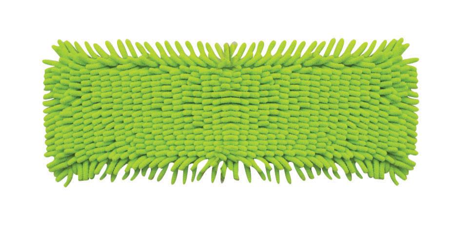 Сменная насадка к швабрам Hausmann, цвет: зеленый, 13 х 42,5 смRF-S01Сменная насадка к швабрам Hausmann изготовлена из микрофибры. Этот материал впитывает больше воды, чем обычная ткань, и быстро высыхает после стирки. Благодаря длинным и мягким волокнам-пальчикам, насадка эффективно очищает от загрязнений любые виды напольных покрытий. Можно стирать в стиральной машине при температуре 40°С. Размер: 13 см х 42,5 см. Длина волокна: 2,5 см.