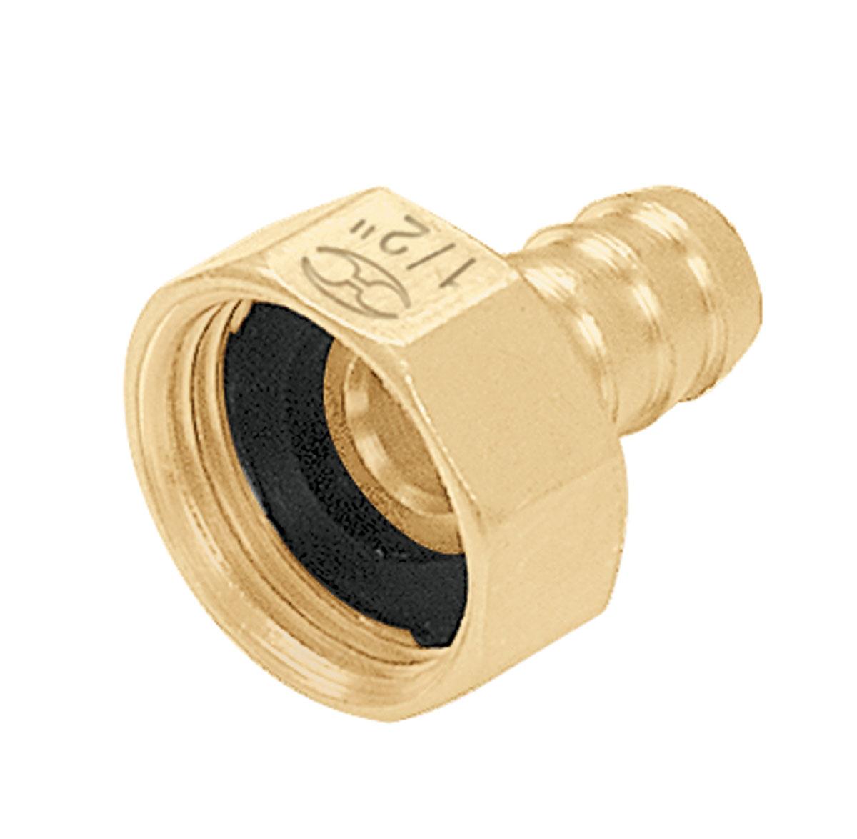 Коннектор для шланга Truper, латунный, мама, 1/2CF-1/2BШланговый коннектор Truper, выполненный из латуни, предназначен для быстрого и многократного присоединения и отсоединения шланга к насадкам или крану. Тип соединения мама.