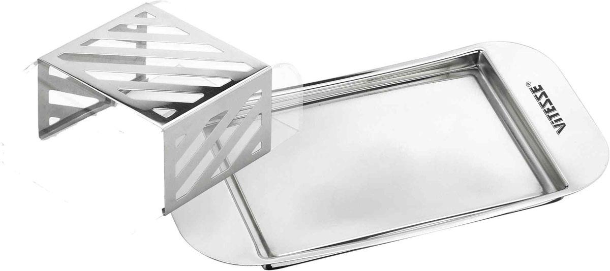 Масленка Vitesse LealaVS-1231Масленка Leala выполнена из высококачественной нержавеющей стали 18/10 с прозрачной пластиковой крышкой. Масленка эстетична и функциональна. Благодаря эксклюзивному дизайну масленка легко впишется в интерьер вашей кухни. Масленку можно мыть в посудомоечной машине (без пластиковой крышки). Характеристики: Размер масленки: 20 см х 11 см х 5,5 см. Материал: нержавеющая сталь 18/10, пластик. Артикул: VS-1231. Кухонная посуда марки Vitesse из нержавеющей стали 18/10 предоставит Вам все необходимое для получения удовольствия от приготовления пищи и принесет радость от его результатов. Посуда Vitesse обладает выдающимися функциональными свойствами. Легкие в уходе кастрюли и сковородки имеют плотно закрывающиеся крышки, которые дают возможность готовить с малым количеством воды и экономией энергии, и идеально подходят для всех видов плит: газовых, электрических, стеклокерамических и индукционных. Конструкция дна посуды гарантирует быстрое...